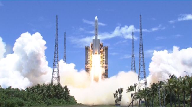 Tianwen-1 launches for Mars.