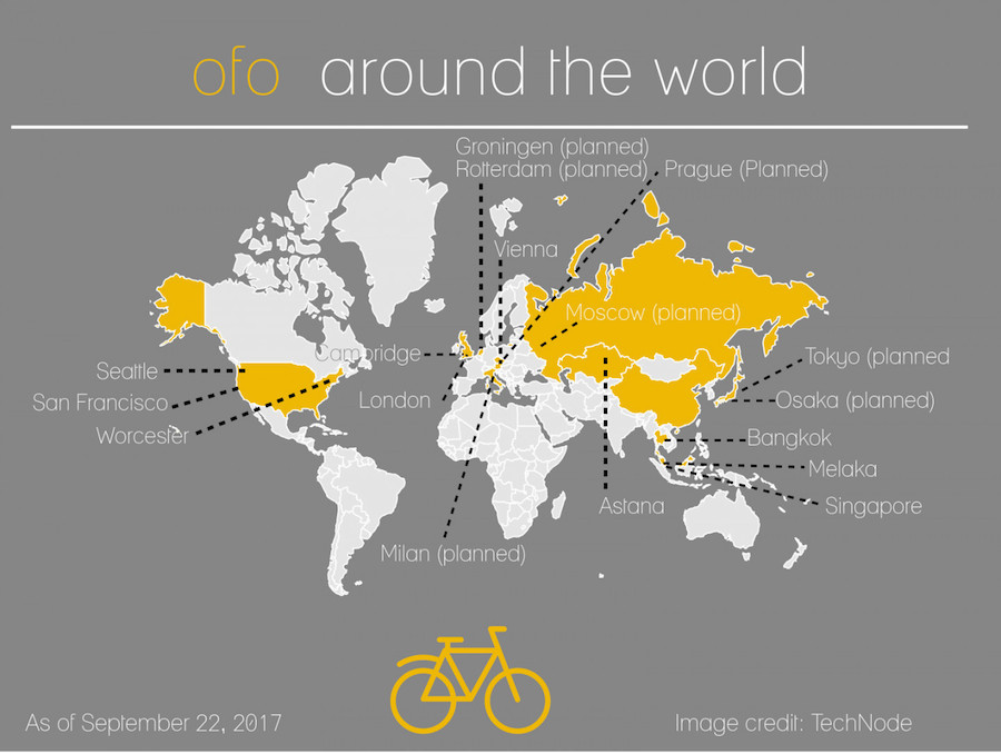 The race for the World's shared bike rental market.